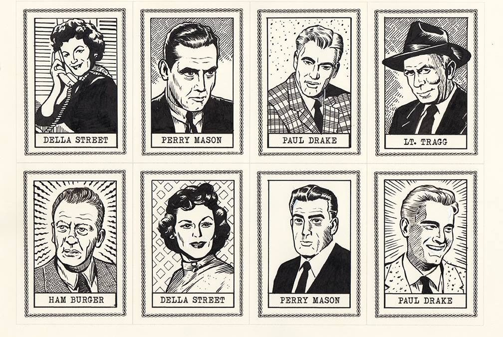 Perry Mason Art Cards