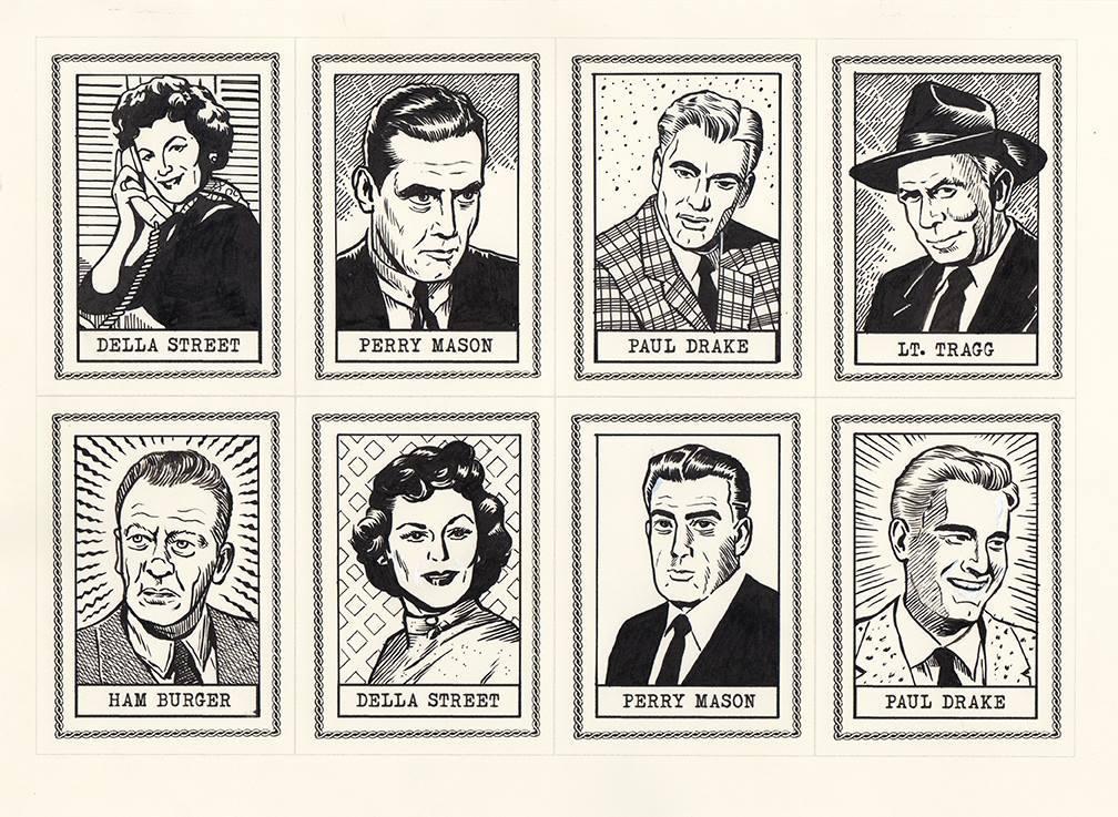 Perry Mason Art Cards